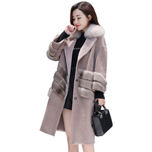 2019 New Womens Woolen Long Wool Coat Section Korean Warm Version Fashion Slim Thick Parker Autumn Winter Tide