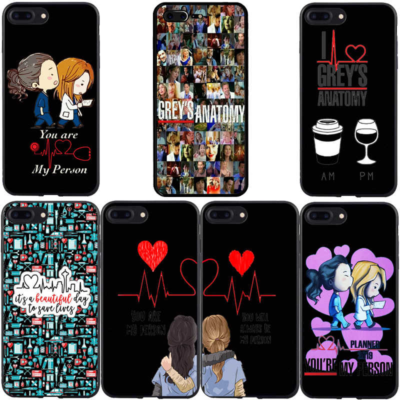Greys Anatomy You are my person  Black Soft silicon TPU Phone Cases Cover For iPhone 5 5S 6S 7 8 Plus X XR XS MAX 11 Pro MAX