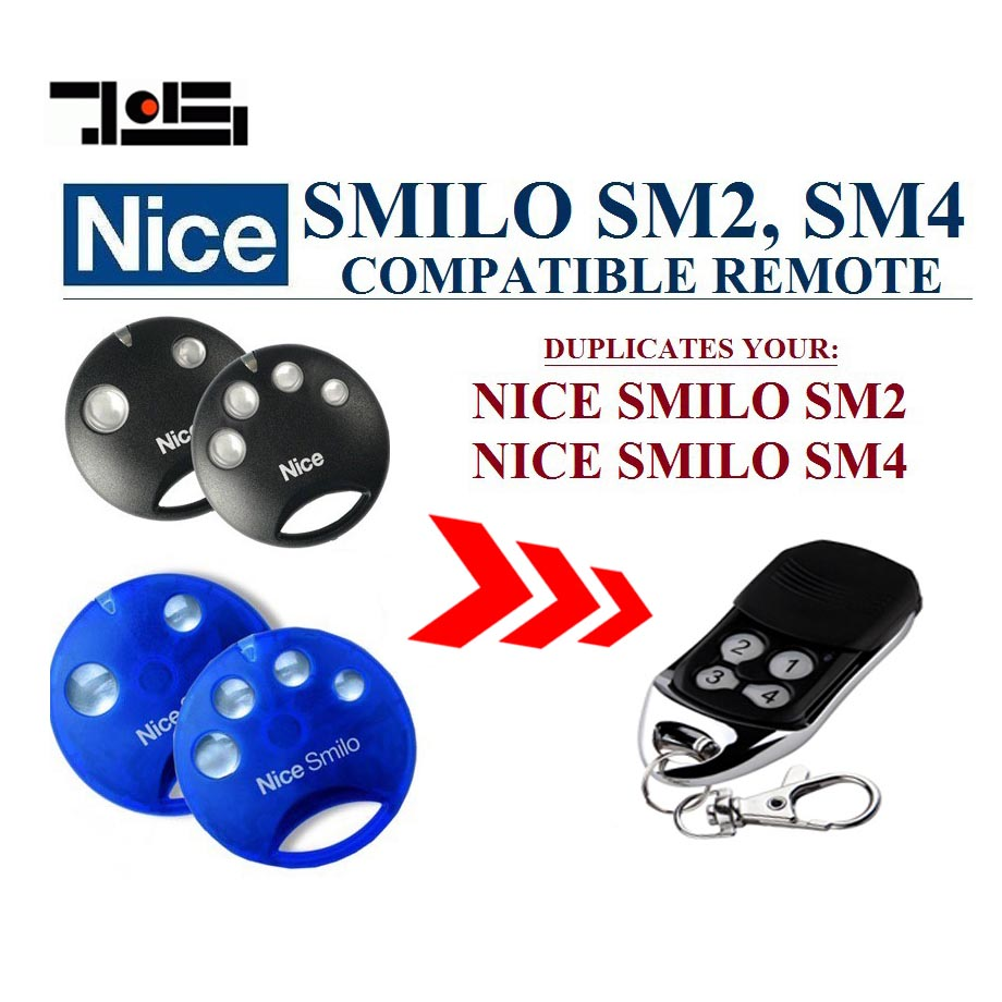 High quality and favorable price! Nice SMILO SM2,SMILO SM4 replacement garage door remote control free shipping high quality and favorable price for ecp garage door replacement remote