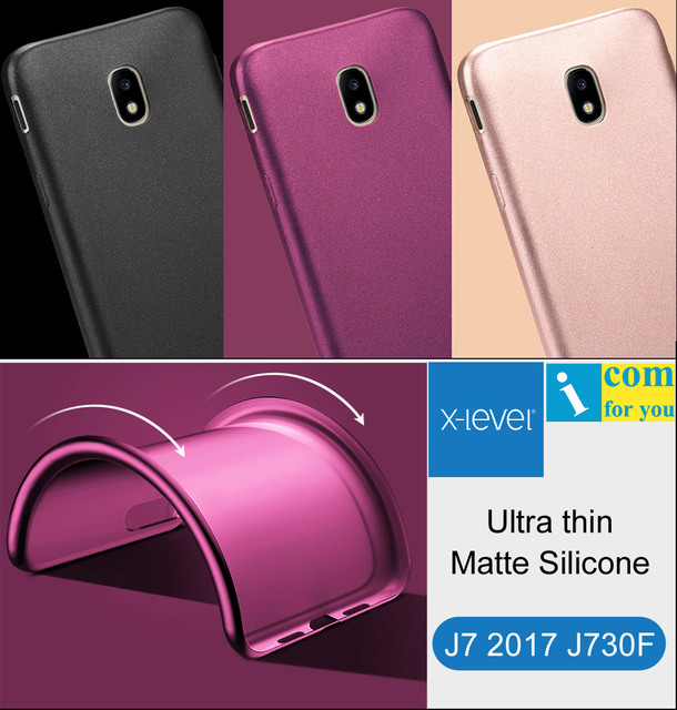 the best attitude dc136 d1b3c US $4.99 |X Level Ultra thin Silicone Cover Case For Samsung Galaxy J7 2017  J730F X Level Guardian Matte frosted TPU Protective J7 Pro-in Fitted Cases  ...