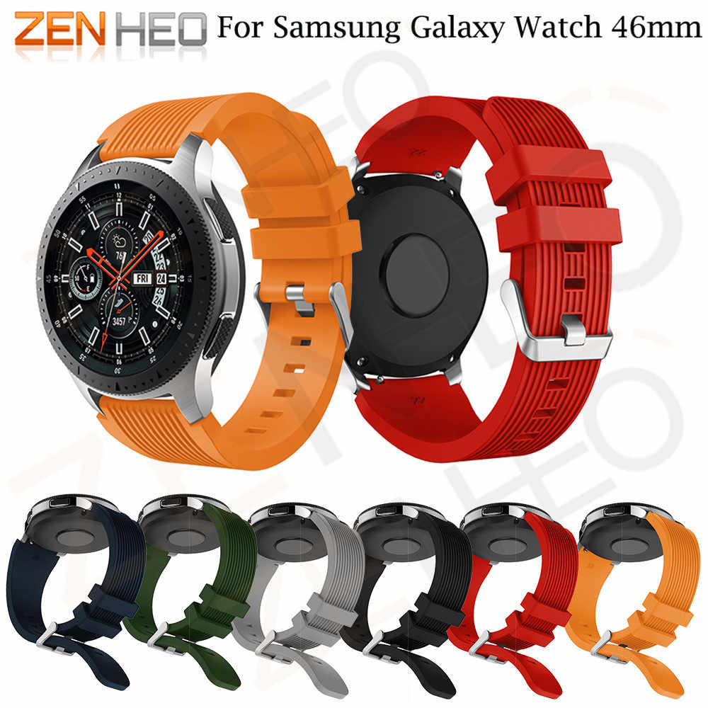 Od zegarków 22mm do Samsung Galaxy Watch 46mm brand New sportowa bransoletka silikonowa pasek do Samsung Gear S3 Frontier 2018