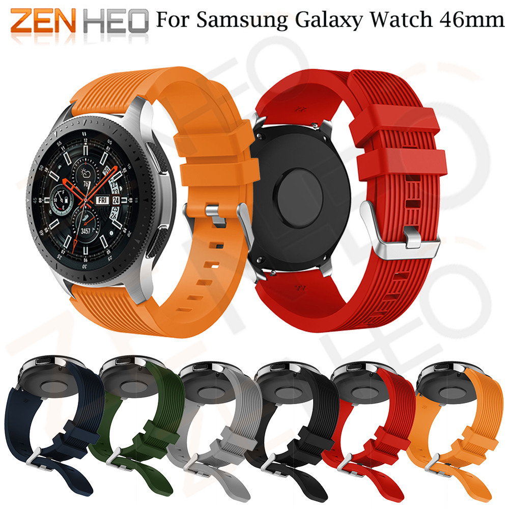Watchbands 22mm For Samsung Galaxy Watch 46mm brand New Sports Silicone Bracelet Strap Band For Samsung Gear S3 Frontier 2018 22mm20mm for samsung galaxy 42 46mm