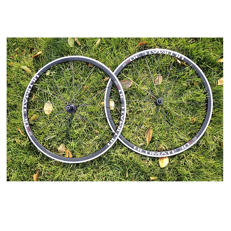Road Bicycle V Brake Wheel Set 700C 30mm Ultralight Bike Wheel 4 Bearing Hub Front 20H Rear 24H 100mm/130mm Refiting Accessories 1set front and rear 700c road bike wheel bicycle magnesium alloy three spokes parts integrated wheel fixed gear single speed