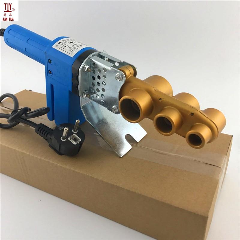 Livre shippng novo 20-32mm 220 v thermofusionadora ppr electronica máquina de solda de tubulação de ferro de solda para tubos de plástico