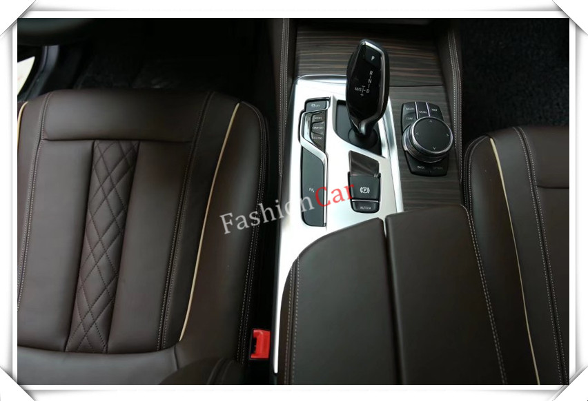 Interior Middle Console Adjust Button Frame Cover Trim 1pcs For BMW 5  series G30 2017 2018 LHD