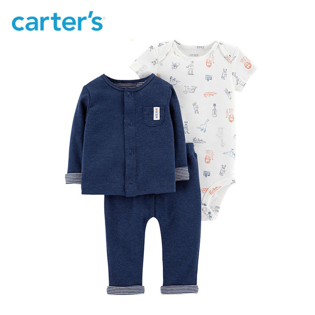 9011721ef Carters 3-Piece Little Cardigan Set Cute newborn baby boy clothes cardigan bodysuit  pants baby clothing set 126H472