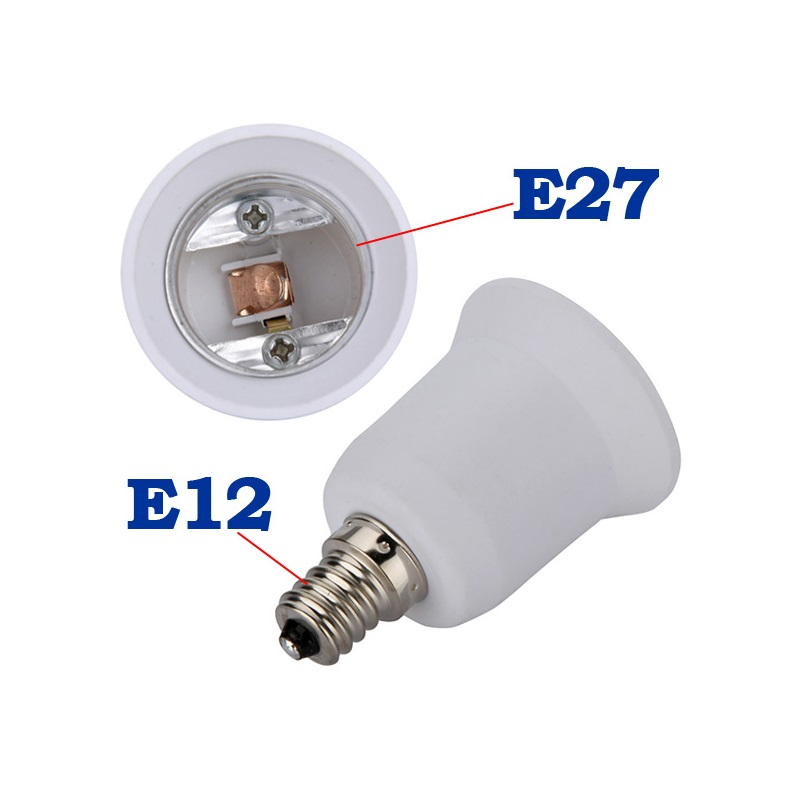 10X E14 To E12 CONVERTER Adapter Lamp Holder Base Socket Light Bulbs Candelabra