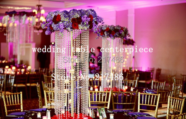 2 Crystal Table Top Chandelier Centerpieces For Weddings Without The Bead Stands And
