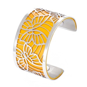Image 2 - Cremo Butterfly Bracelets Stainless Steel Bangles Argent Femme Manchette Interchangeable Leather Pulseiras