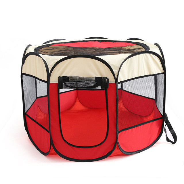 Pet Carrier Tent Playground Dog Cat Puppy Kennel Large Space Folding