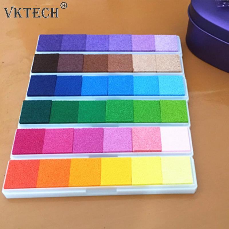 Gradient Colorful Inkpad Home Seal Ink Pad DIY Art Stamps for Scrapbooking Decor Craft Ink Pads for Rubber Stamps Accessories 20 colors can choose diy scrapbooking vintage crafts ink pad colorful inkpad stamps sealing decoration stamp