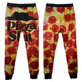 Alisister 2017 llegan nuevos hombres/pantalones legging de las mujeres de impresión 3d pizza slut breaking bad food divertido pantalones de cadera hop pantalones básicos