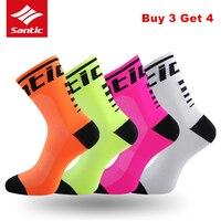 Santic велосипедные носки для мужчин и женщин, анти-пот, для спорта на открытом воздухе, для бега, дышащие спортивные носки Calcetines, для велосипед...