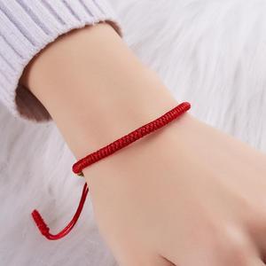 Женский и мужской винтажный браслет RINHOO, тибетский буддистский браслет с надписью «Lucky» и веревкой ручной работы, Браслет «Будда»