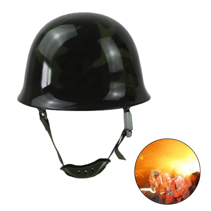 Fire Fighting Helmet Fire Hat Safety Protection Cap Steel Helm L29k