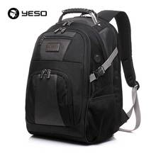 YESO Men's Travel Bags 2017 Winter New Fashion Laptop Backpack Business Casual Backpack Multifunctional Oxford Black School Bags