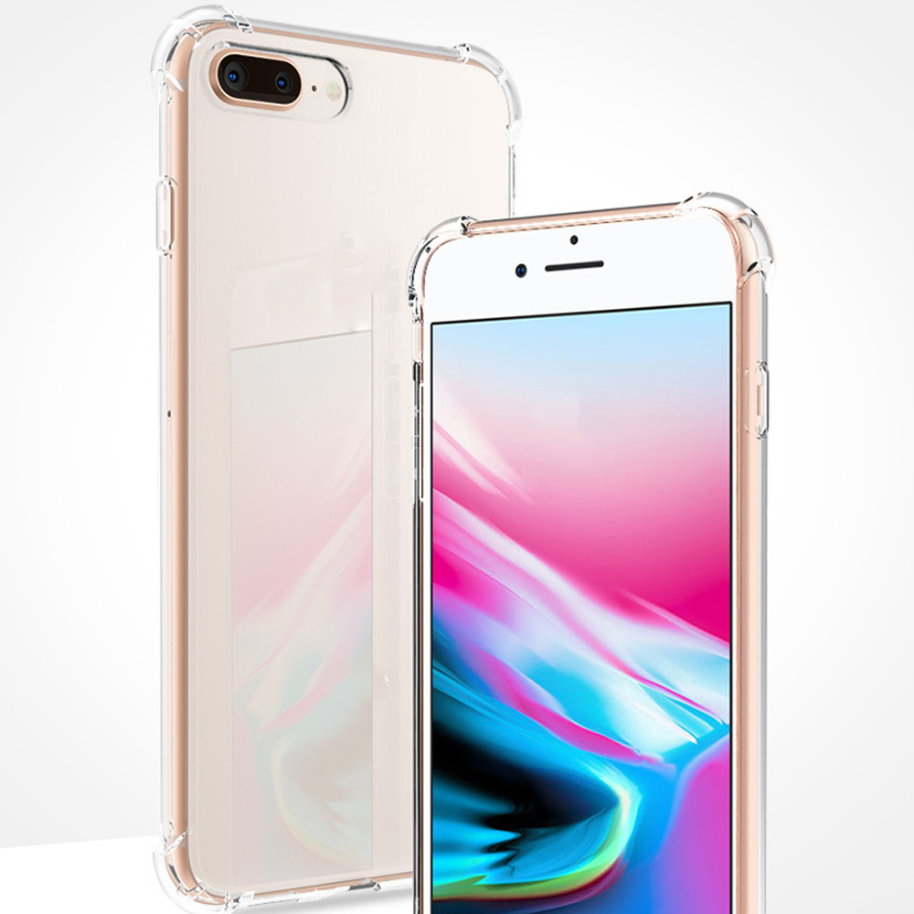 Buyruo Shockproof Silicone Phone Case For iPhone X XS XR XS Max 8 7 Plus 6 6S Plus 5 5S Case Transparent Protection Back Cover in Fitted Cases from Cellphones Telecommunications