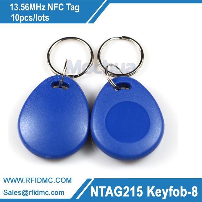 13.56MHz NFC key fob Ntag215 key fob NFC Tag NFC Forum type2 tag