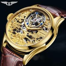 Real Tourbillon GUANQIN 2019 Clock Sapphire watch Mechanical Hand Wind style clock men watch Top brand luxury relogio masculino