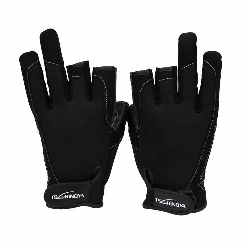 Hot Sale Trulinoya 1 Pair Fishing Gloves Outdoor Sports Breathable Anti-slip 3 Low-Cut Fingers Fishing Gloves brand new dx1 cree xm l xml xm l2 15w 2000lm aluminum alloy waterproof led diving flashlight underwater lamp torch flash light