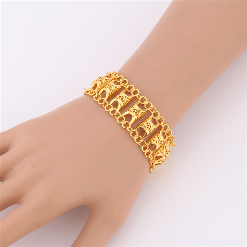 Bracelet For Women Men Jewelry Uniqe Design Gold Color Fashion ...