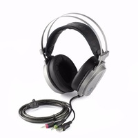 Wired Gaming Headset Deep Bass Headphones Stereo Surrounded Colorful Light Headband Earphone For Computer PC Gamer