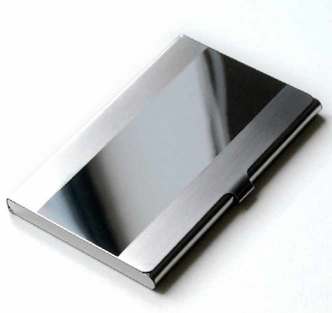 Hot Selling 2020 Stainless Steel Card Holder Men Business ID Credit Card Wallet Male Luxury Silver Aluminium Case Cover #Zer