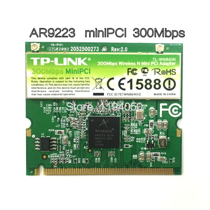 WDXUN Atheros AR9223 300Mbps Mini PCI Wireless N WiFi Adapter Mini-PCI WLAN Card For Acer Asus Dell Toshiba CARD