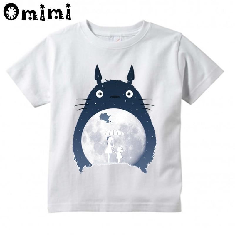 Kids Anime Totoro Design T Shirt Boys/Girls Great Casual Kawaii Short Sleeve Tops Children's Funny T-Shirt casual striped short sleeve t shirt crop pants twinset for boys