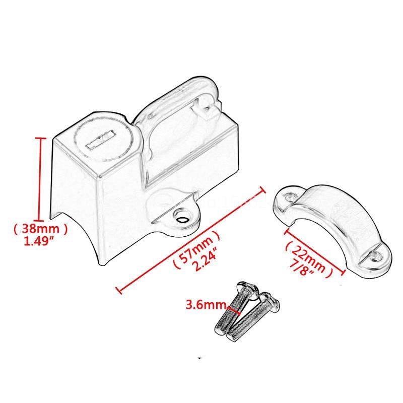 "Motorcycle Helmet Lock Kit Anti-theft Universal fits 7//8/"" 22mm tubes 45732-86"