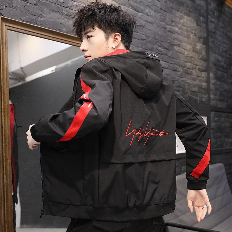 2019 Fashion hip hop jackets men hoodies overcoat patchwork printed homme Jacket male Korean fashion plus size 4XL tops clothes 41