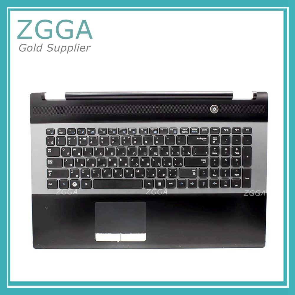 New Laptop Keyboard with Touchpad Palmrest for Samsung RC730 RC530 RC728 Upper Case Top Housing Case US RU BA75-03203C original new laptop keyboard with c case shell palmrest for samsung ba75 02977e sf410 sf411 arab layout
