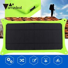 amzdeal New 5V 6W Portable Travel Solar Charging Panel Charger USB For Mobile Cell Phone DIY Solar Panel Home Power Supply Gift