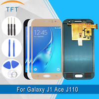 TFT LCD For Samsung Galaxy J1 Ace J110 J110H J110F J110M LCD Display+Touch Screen Digitizer Assembly with bright adjust+Glass