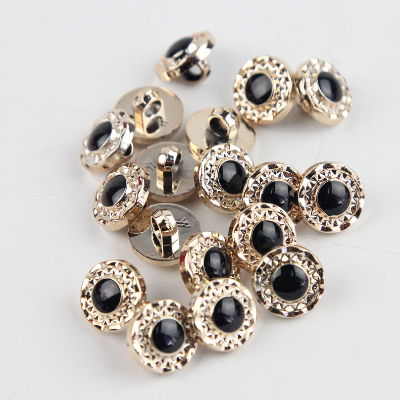100 pcs round acryl resin buttons black sewing shank for Decorative pins for crafts