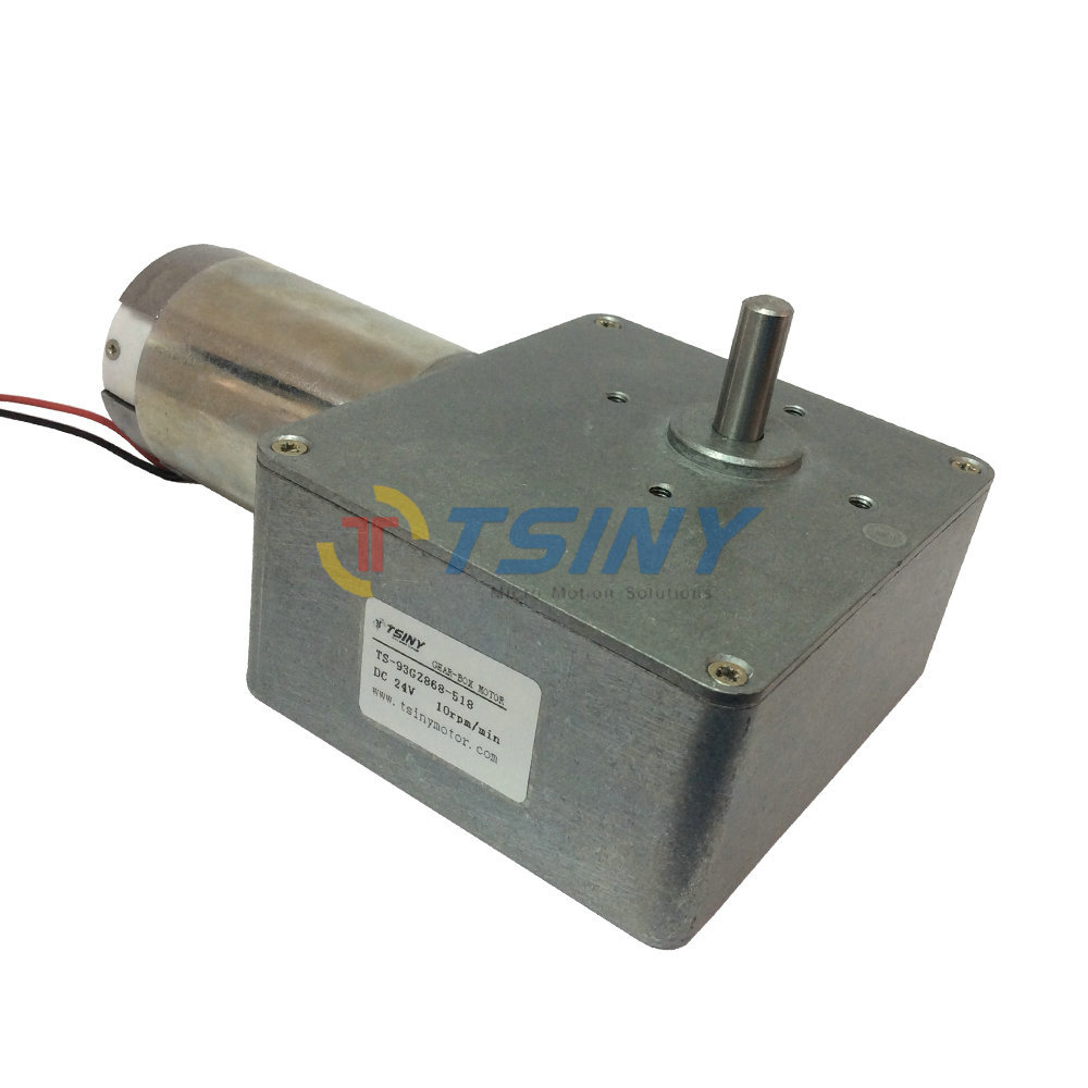 Buy dc 24v 10rpm high torque worm reducer for 24 volt dc motor high torque
