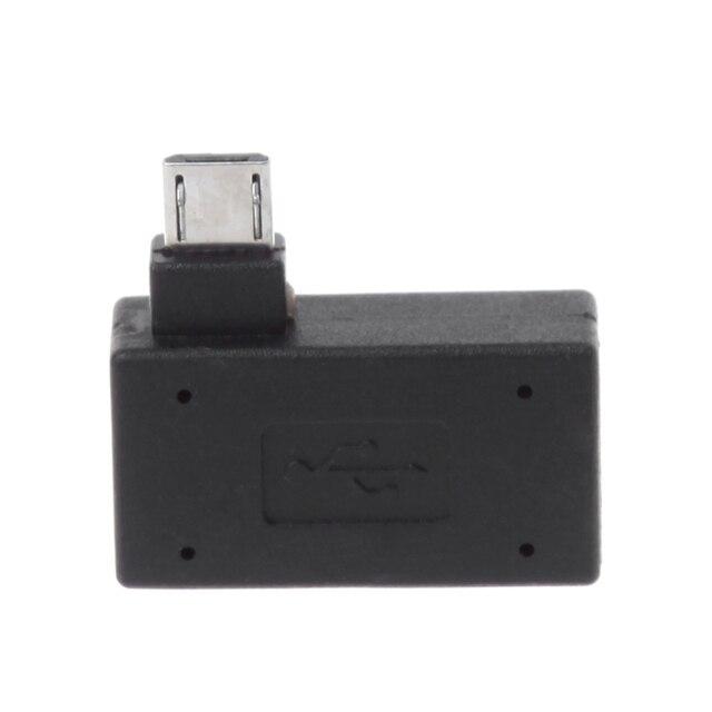 W lewo/w prawo pod kątem standardowy Micro USB 2.0 do OTG Adapter złącze dla telefonów komórkowych tablet z funkcją telefonu