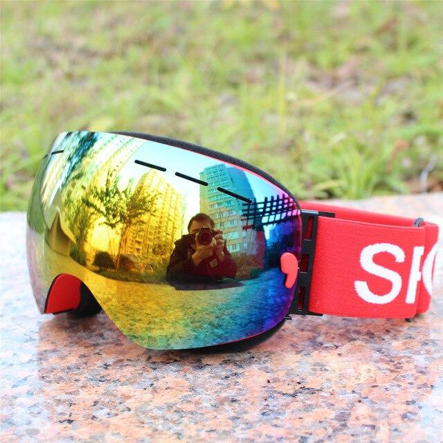66ce1f8f7205d Camadas Anti-Nevoeiro Óculos De Esqui Das Mulheres Dos Homens Sports Óculos  De Esqui Snowmobile