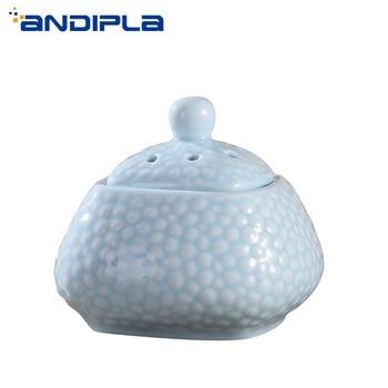 220V Beautiful Fragrance Lamp Electric Plug Ceramic Incense Burner Essential Oil Heater Diffuser Fragrant Stove Help sleep Decor