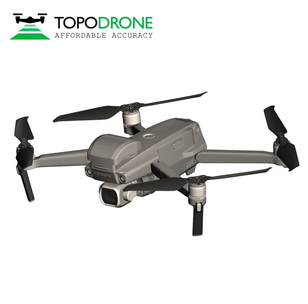 Topodrone DJI Mavic RTK/PPK for precision aerial survey drones airplane MAX fly 30KM title=