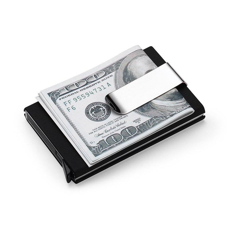 Nesitu RFID Blocking Automatic Credit Card Holder Business Card Holder Magic Pop Up Aluminum Wallet Money Clip #M-A01