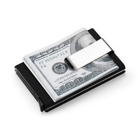 Nesitu RFID Blocking Automatic Open Credit Card Holder Business Card Holder Magic Pop Up Aluminum Wallet