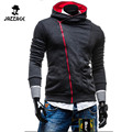 NEW 2016 Men Autumn Slim Hoodies Long Sleeve Solid Jacket Casual Cardigan Zipper Hooded Men'S Sweatshirt 1d515