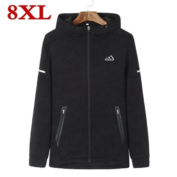 plus size 8XL 7XL Brand New Sweatshirt Mens Fall Zip Up Hoodie Hoody Jacket Sweatshirt Casual Gym Hooded Coats Top Outwear