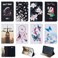 For Samsung Galaxy Tab E 9.6 T560 T561 SM-T560 Case Fashion Butterfly Flower Pattern Wallet Flip PU Leather Tablet Back Cover