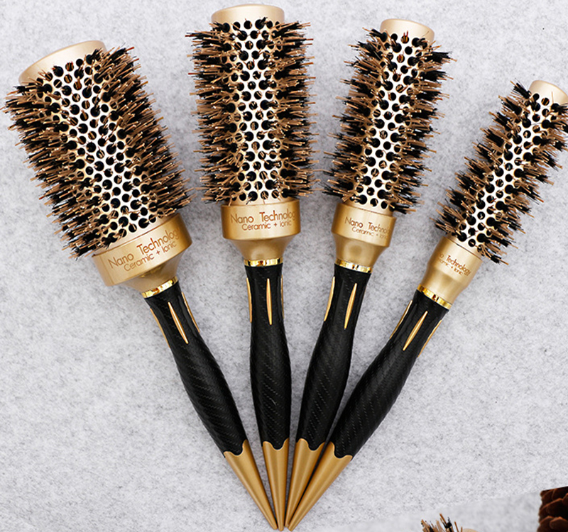 5 size Ceramic Iron Hair Brush Anti static High Temperature Resistant Round Barrel Comb Hairstyling Drying Curling Tool-in Combs from Beauty & Health