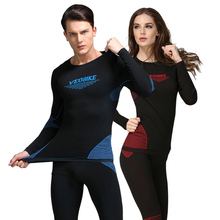 Outdoor Sports Men Cycling Jersey Winter Thermal Underwear Running Clothes Ladies Yoga Top Pants Set Women Cycling Base Layers winter warm outdoor sports thermal underwear set polartec long johns men women thermal underwear top pants cycling base layers 4