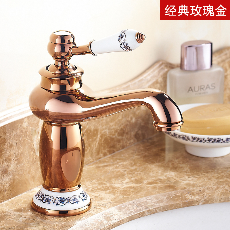 European Antique Kitchen Faucet Brushed Polished Golden Bathroom Basin Faucet Swivel Single Handle Sink Mixer Hot Cold Water golden bathroom basin led faucet water
