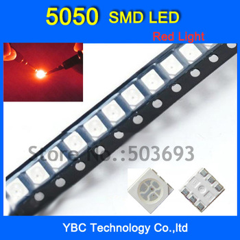 5050 SMD LED 1000pcs/lot  Ultra Bright Red Diode Wholesale