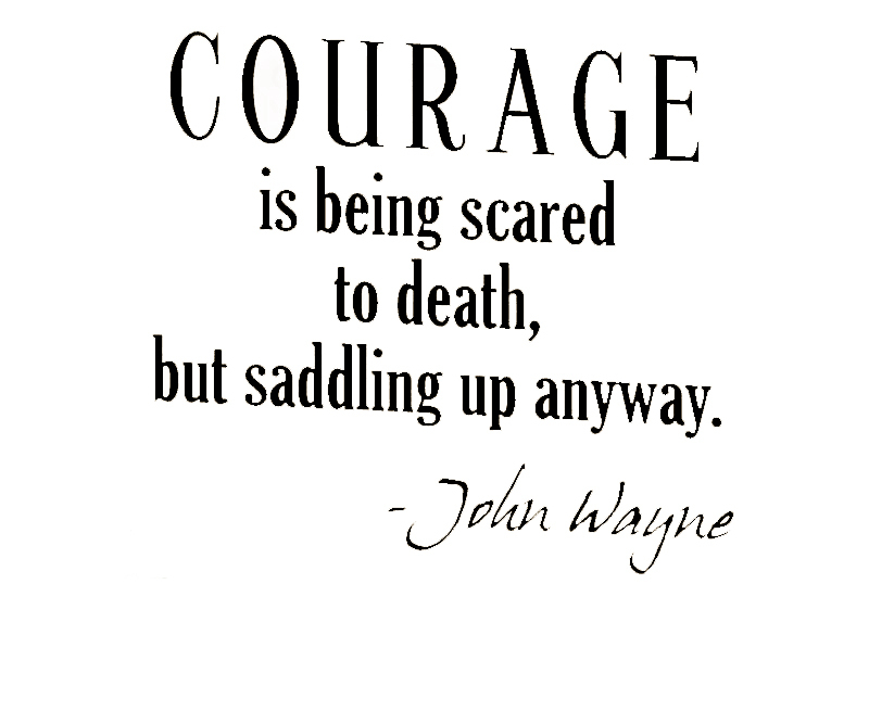 SayingCourage is being scared to death but saddling up anyway. - John Wayne  Sizes Offered  sc 1 st  AliExpress.com & Aliexpress.com : Buy CaCar Wall Decal Art Sticker Quote Vinyl ...